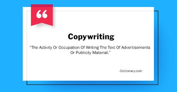 Definition of copywriting