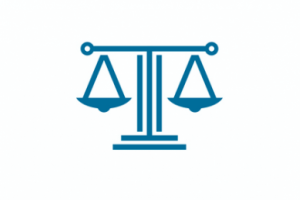 A scale representing the balance of law and justice