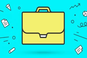 Cartoon of briefcase
