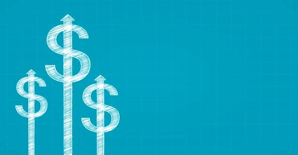 Cartoon image of dollar signs