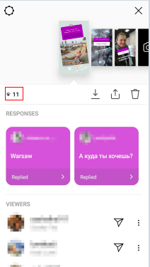 Showing how many views an Instagram story has