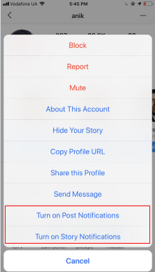 Showing people how they can turn on notifications for posts and stories