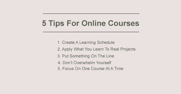 5 Tips To Succeed In Online Courses