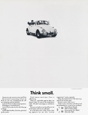 "Volkswagen ""think small"" ad"