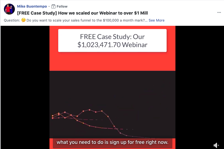 Scaling a business with a case study on Mike Buontempo's Facebook page