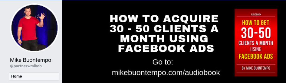 Mike Buontempo's audiobook offer on his Facebook page