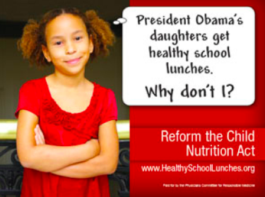 Ad for the Reform the Child Nutrition Act