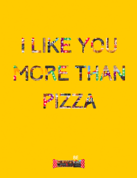 Kind Bar ad: I like you more than pizza