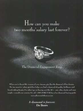 De Beers engagement ring ad