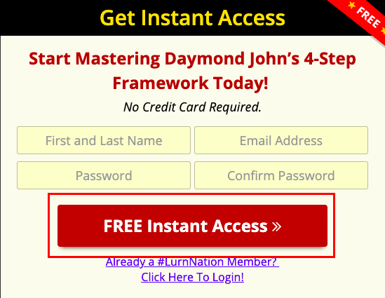 "Example of a call-to-action - ""Free Instant Access"""