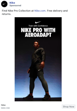 Example of copywriting from Nike