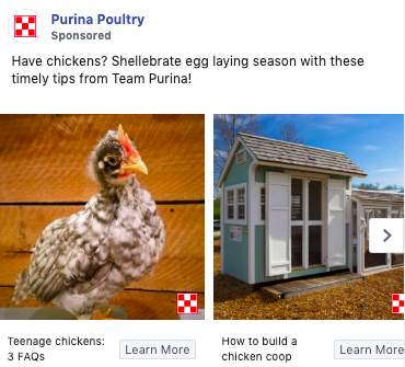 Example of copywriting from Purina