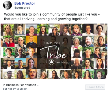 Example of copywriting from Bob Proctor