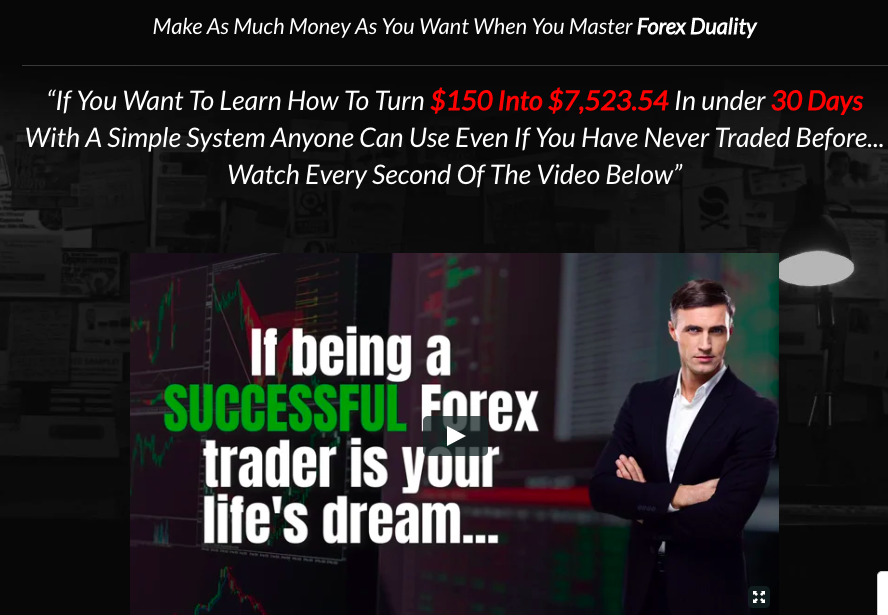 Example of copywriting from Forex
