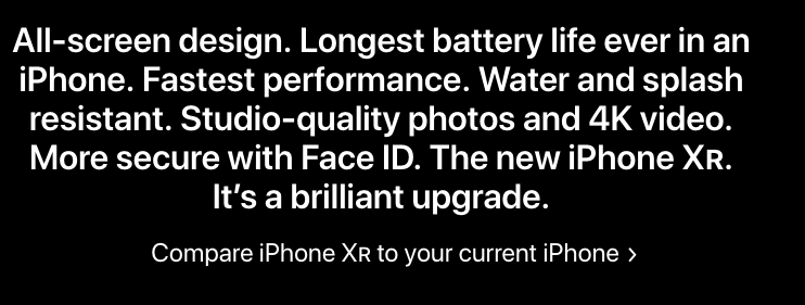 Example of copywriting from Apple
