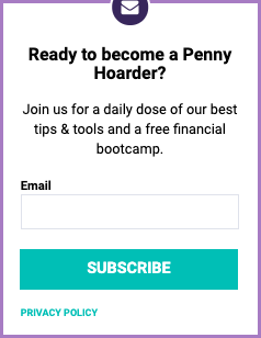 Example of copywriting from The Penny Hoarder