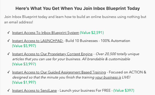Benefits of joining Inbox Blueprint