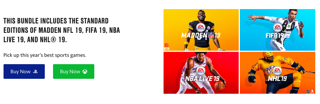 EA Sports game bundle