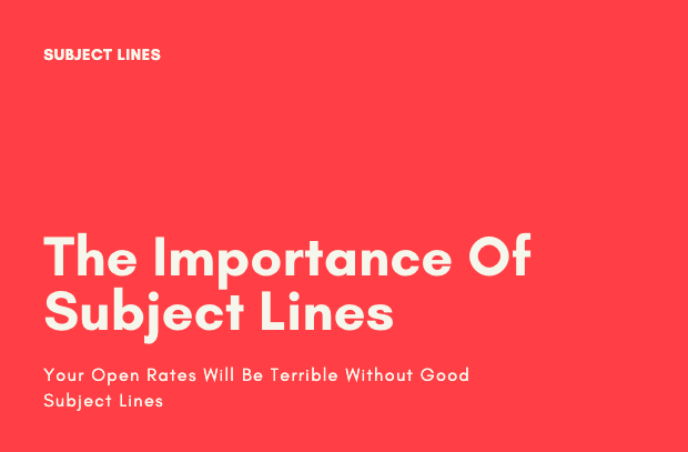 The importance of writing good subject lines