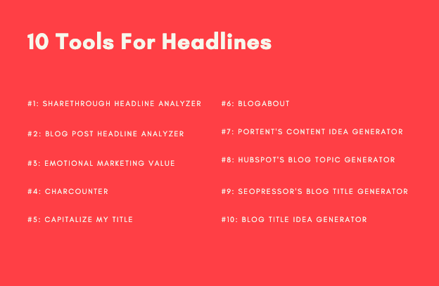 10 tools for writing headlines