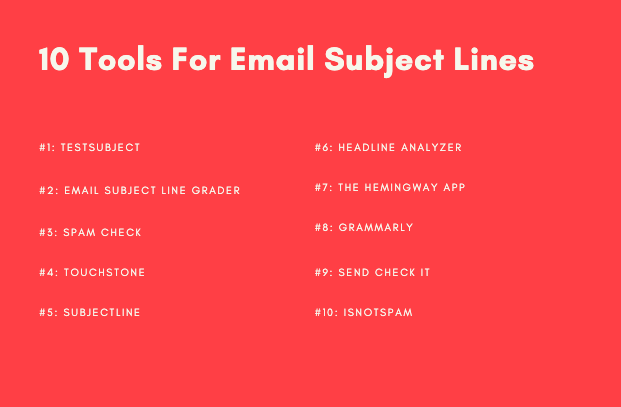 10 tools for writing email subject lines