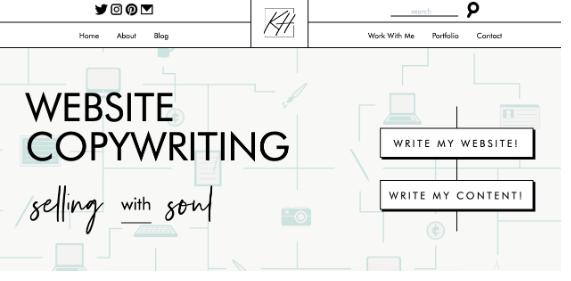 Copywriter portfolio website